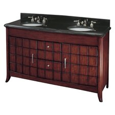 "62"" Double Bathroom Vanity Set"