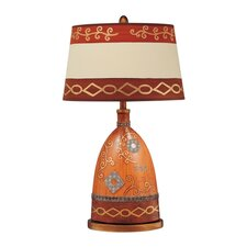 "Painted Ceramic 32"" H Table Lamp with Empire Shade"