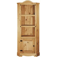 Rustic Corona Tall Wide 178cm Corner Display Cabinet