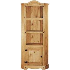 Rustic Corona Tall Wide 178cm Corner Display Cabinet