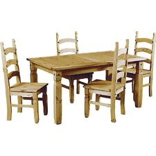 Rustic Corona Dining Table and 4 Chairs