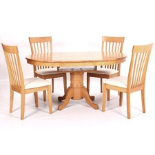 Leicester Extendable Dining Table and 4 Chairs