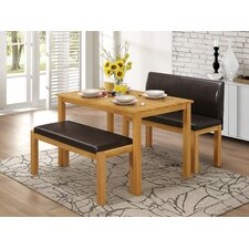 Hamra Dining Table and 2 Benches