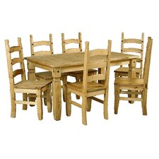 Rustic Corona Dining Table and 6 Chairs