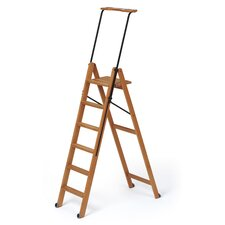 Tuscania 2.06m Movable Beech Wood Ladder