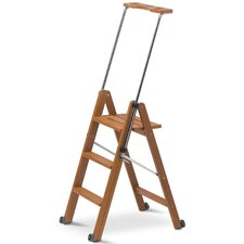 Tuscania 1.45m Wooden Moveable Ladder