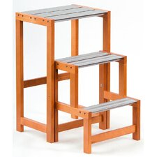 Up and Down 3-step Wood Step Stool