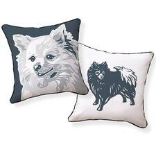 Pomeranian Cotton Throw Pillow