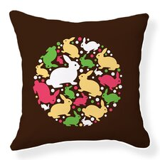 Baby Bunny Cotton Throw Pillow