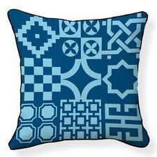 Turkish Tiles Cotton Throw Pillow