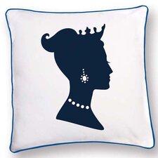 British Invasion Princess Reversible Cotton Throw Pillow