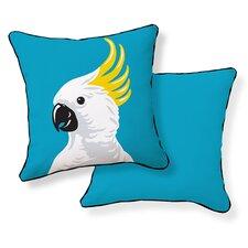 Cockatoo Cotton Throw Pillow