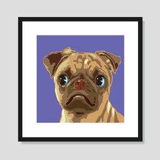 Pug Framed Graphic Art