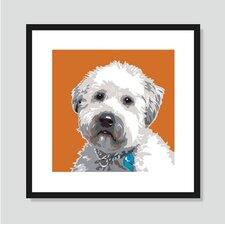 Wheaten Terrier Framed Graphic Art