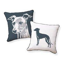 Big Greyhound Cotton Throw Pillow