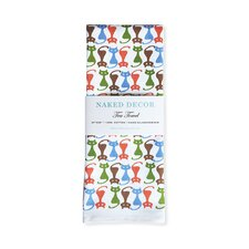 Cat Pattern Tea Towel