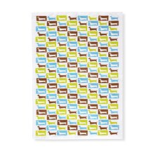 Doxie Pattern Tea Towel