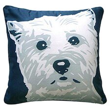 Doggie Style Reversible West Highland Terrier Cotton Throw Pillow