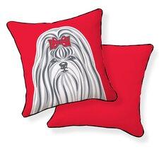 Shih Tzu Cotton Throw Pillow