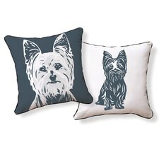 Yorkshire Terrier Cotton Throw Pillow