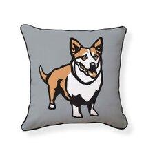 Corgi Cotton Reversible Throw Pillow