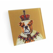 English Bulldog King Coaster (Set of 4)