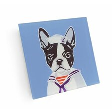 Boston Terrier Sailor Coaster (Set of 4)