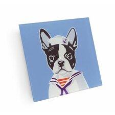 Boston Terrier Sailor Coaster (Set of 4)