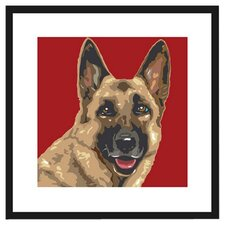 German Shepherd Framed Graphic Art
