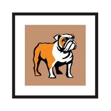 English Bulldog Framed Graphic Art