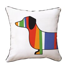 Dachshund Cotton Throw Pillow