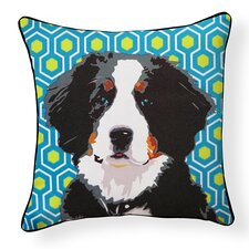 Pooch Décor Bernese Mountain Dog Indoor/Outdoor Throw Pillow