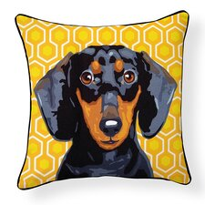 Pooch Décor Dachshund Indoor/Outdoor Throw Pillow