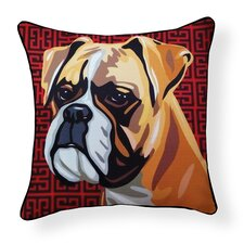 Pooch Décor Boxer Indoor/Outdoor Throw Pillow