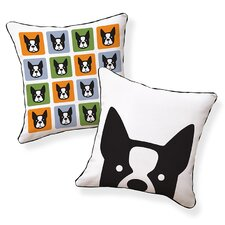 Boxer Cotton Throw Pillow