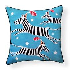 Circus Zebra Indoor/Outdoor Throw Pillow