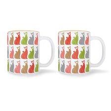 Cat Mugs (Set of 2)