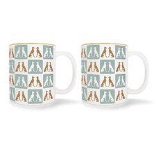 Greyhound Mugs (Set of 2)