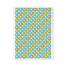 Poodle Pattern Tea Towel