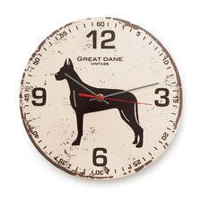 "12"" Great Dane Vintage Wall Clock"