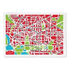 Nation Capital Map Tea Towel