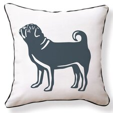 Pug Reversible Cotton Throw Pillow