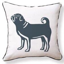 Pug Reversible Cotton Throw Pillow