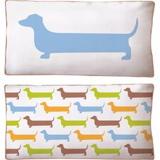 Dachshund Super Long Reversible Cotton Boudoir/Breakfast Pillow