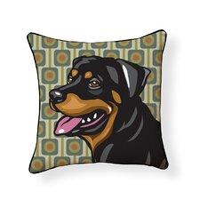 Pooch Décor Rottweiler Indoor/Outdoor Throw Pillow