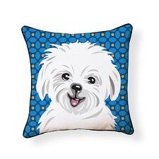 Pooch Décor Maltese Indoor/Outdoor Throw Pillow