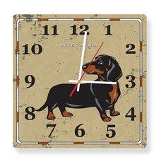 Little Doxie Square Clock