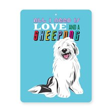 Sheepdog Tin Sign Wall Décor