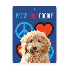 Labradoodle Tin Sign Wall Décor