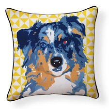 Pooch Décor Australian Shepherd Indoor/Outdoor Throw Pillow